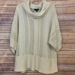 A.n.a. Cowl neck loose knit short sleeves sweater